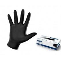 Перчатки нитриловые черные 50 шт (25пар) размер L, NitriMax