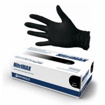 Перчатки нитриловые черные 1 пара размер S, NitriMax