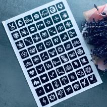 Трафареты (лист из 63 шт) для тату №6