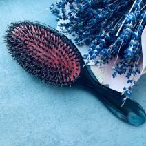 Расческа для наращенных волос с натуральной щетиной