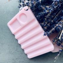 Подставка для кистей горизонтальная, розовая