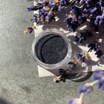 Песочек черный голографический в баночке