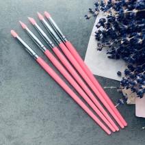 Набор силиконовых кистей 5 шт (розовые)