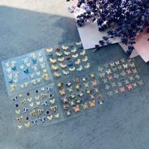 Наклейки для ногтей бабочки - 5 листов