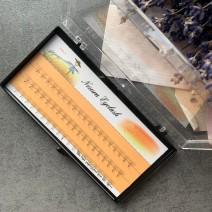 6 D ресницы безузелковые изгиб С, толщина 0.07, длина 8 мм