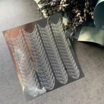 Наклейки виниловые для ногтей серебряные