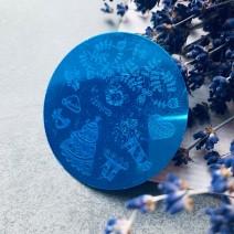 Круглый диск для стемпинга зимний YZW 03