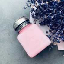 Помпа для жидкости розовая с металлической крышкой