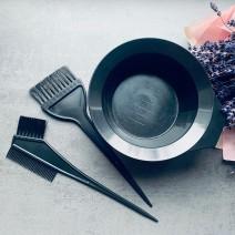 Набор для покраски волос (мисочка и две кисти)