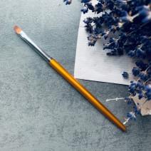 Кисть для геля закругленная № 8 с металлической ручкой