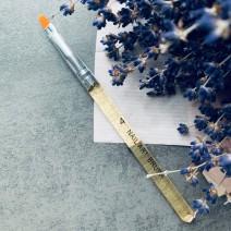 Кисть для геля закругленная с прозрачно-золотой ручкой, №4