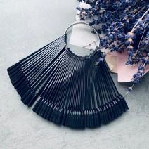 Палитра веерная на 50 цветов черная