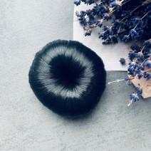 Бублик из волос черный, 7 см