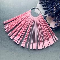 Палитра веерная на 50 цветов розовая