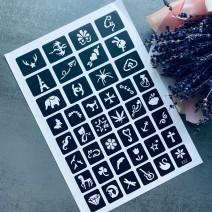 Трафареты (лист из 42 шт) для тату №12