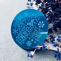 Стемпинг круглый Новогодний stz-m04