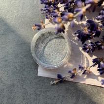 Песочек серебряный голографический в баночке