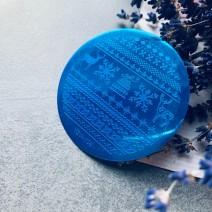 Круглый диск для стемпинга зимний YZW 08