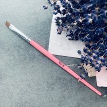 Кисть для геля скошенная № 8 (розовая ручка)