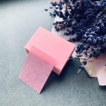 Салфетки безворсовые розовые 70 шт (4*5см), плотные