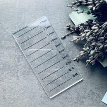 Планшет для ресниц прозрачный