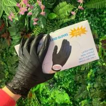 Перчатки нитрилово-виниловые черные 100 штук (50 пар) размер М