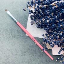 Кисть для геля скошенная № 4 (розовая ручка)