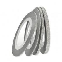 Декоративная самоклеящаяся лента серебряная, ширина 1 мм